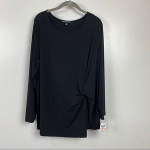 NWT INC International Concepts Sz 2X black top